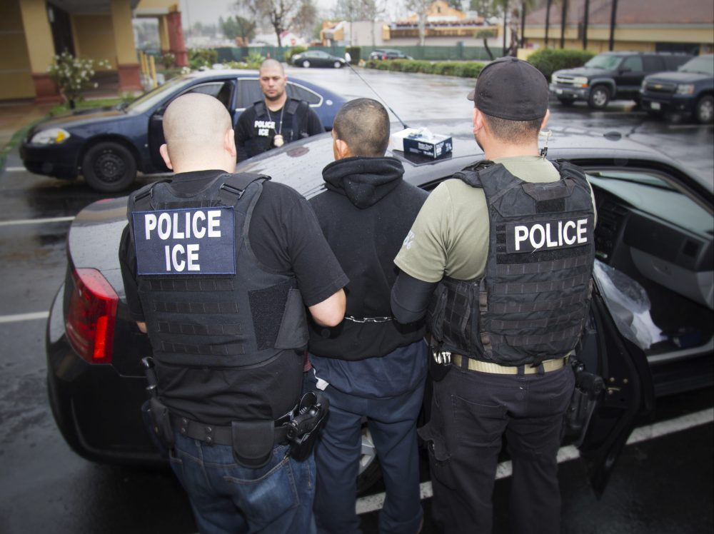 ICE officials arrest a foreign national in Los Angeles on Feb. 7, 2017. Photo by Charles Reed / U.S. Immigration and Customs Enforcement via the Associated Press