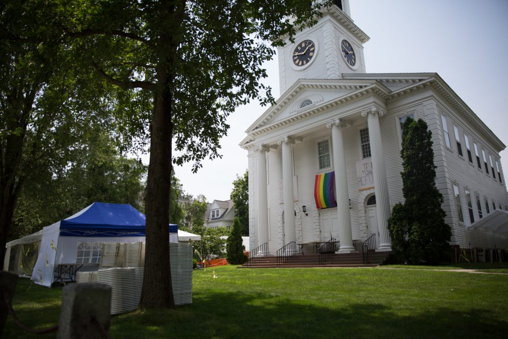 The Congregational Church in the historic district of Old Lyme, Connecticut. Photo by Ryan Caron King for WNPR