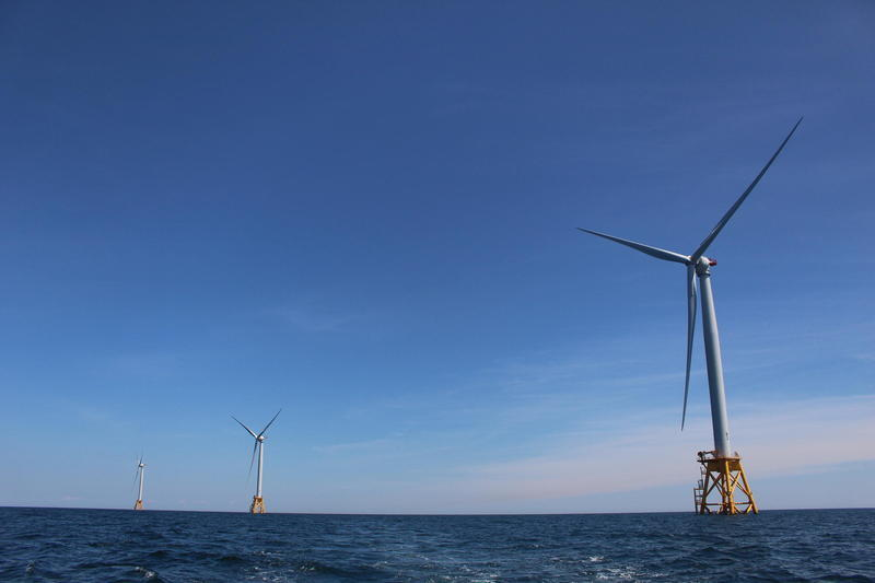Turbines off the coast of Block Island.