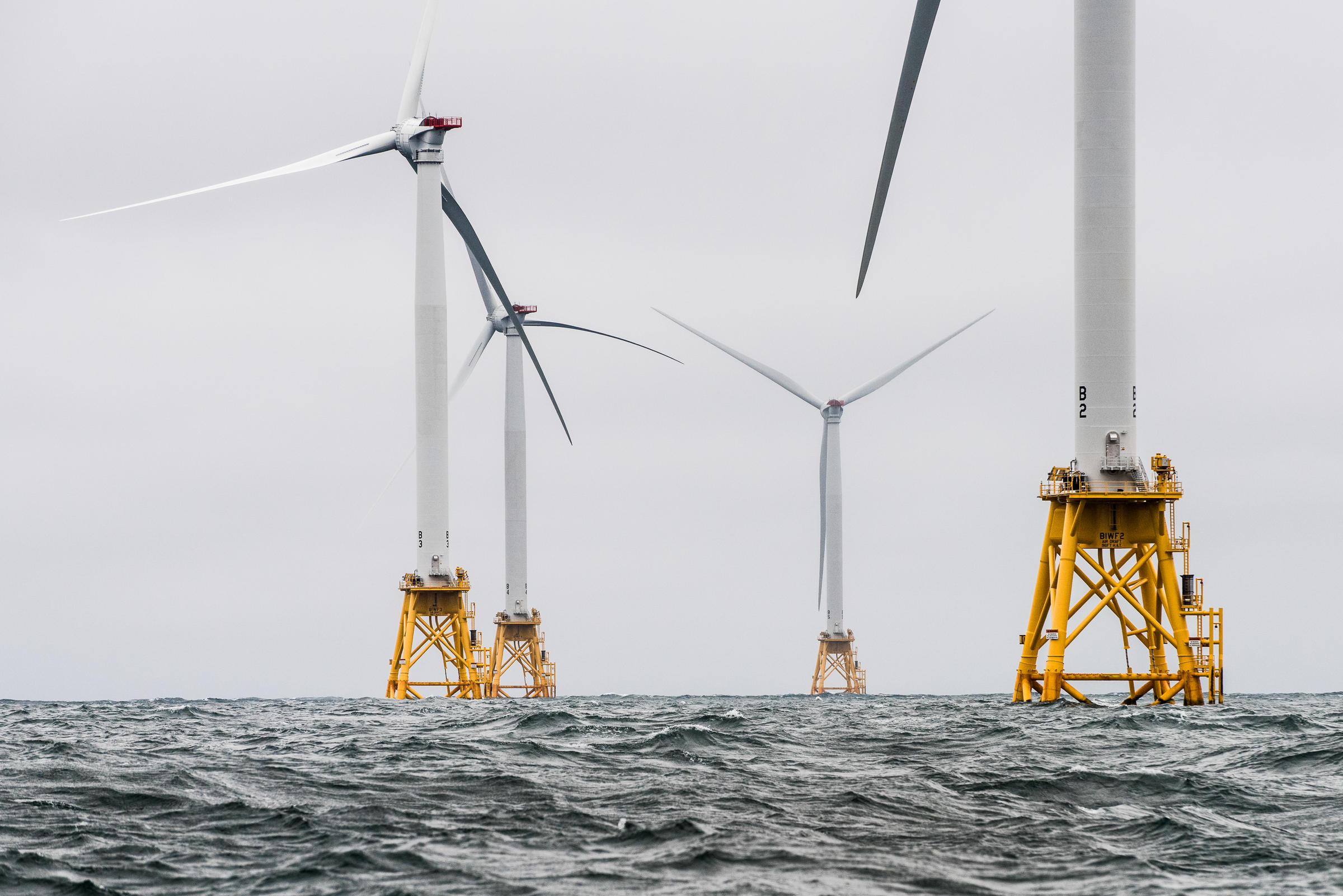 The Block Island Wind Farm off the coast of Rhode Island. Photo by Dennis Schroeder for NREL