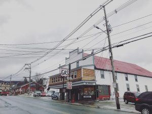 "Cross Street in Island Pond. This month on 'Brave Little State,' we try to answer a listener question about just how ""different"" the Northeast Kingdom is from the rest of the state. (Angela Evancie / VPR)"
