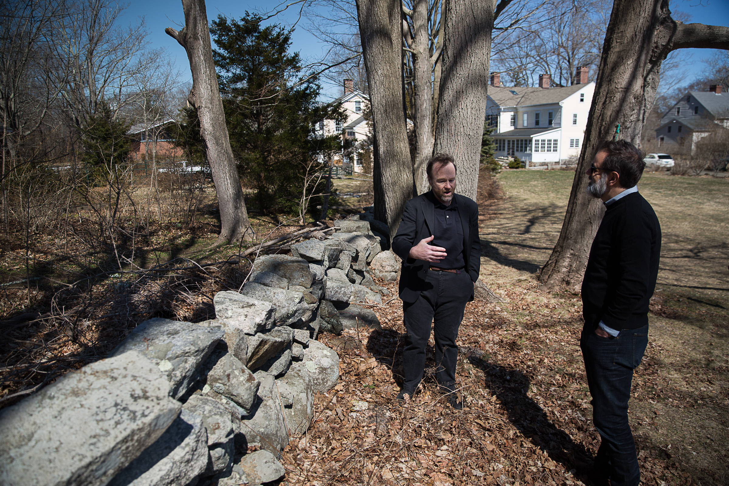 Architect Duo Dickinson ruminates on one of the staples of New England architecture: the stone wall. Photo by Ryan Caron King for WNPR