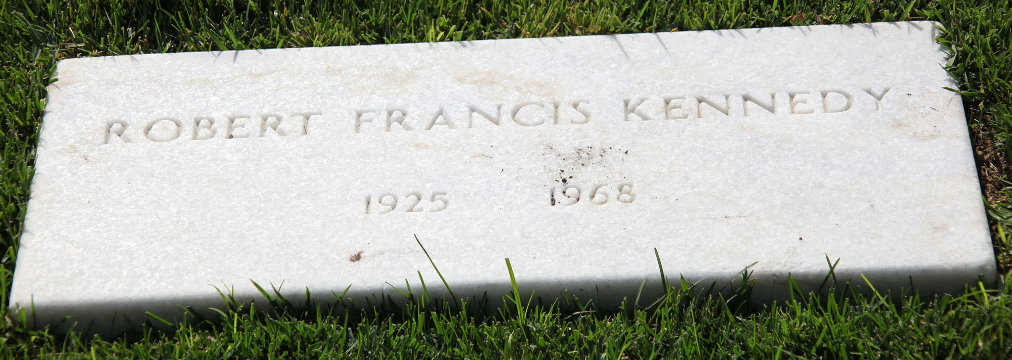 Robert F Kennedy's Headstone at Arlington National Cemetery. Photo by Tim Evanson, Flickr