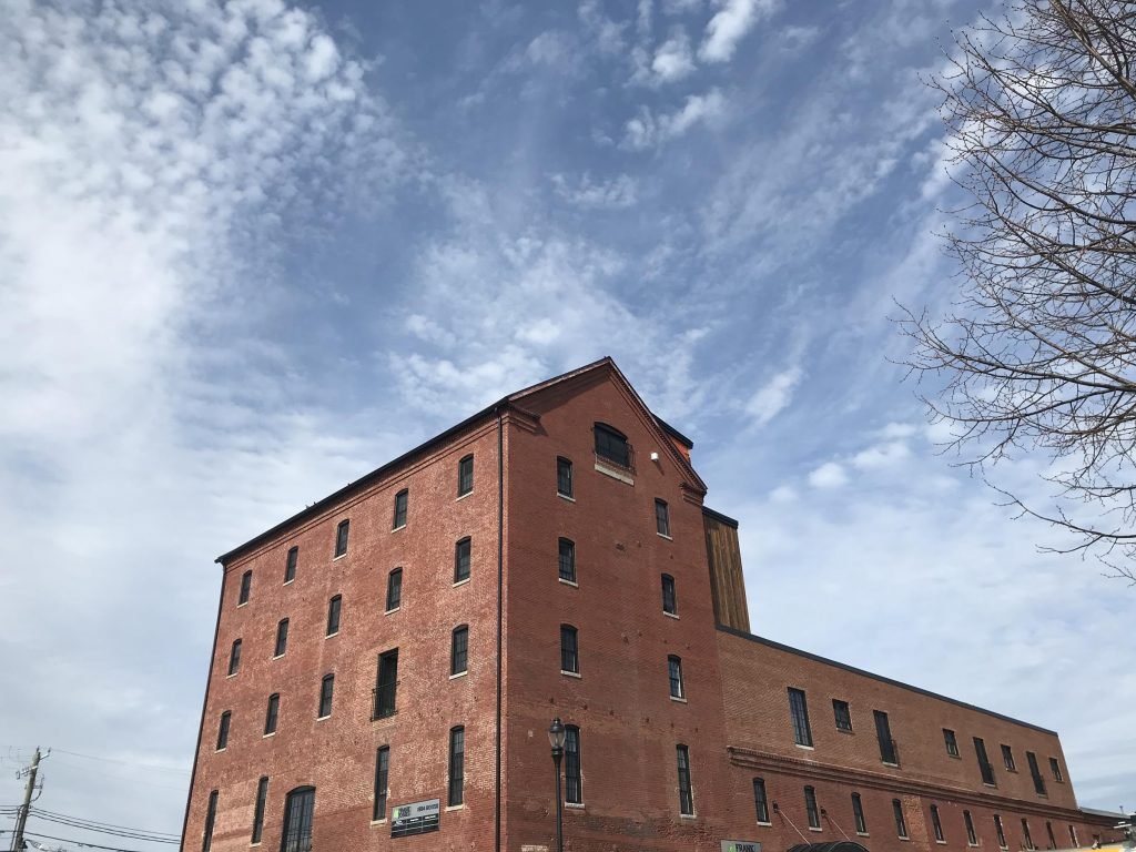 Future housing at the Frank Jones Brew Yard in Portsmouth. Photo by Robert Garrova for NHPR