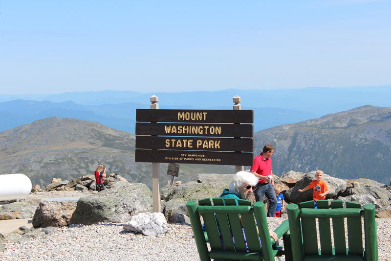 The peak of Mount Washington. Photo by Annie Ropeik for NHPR