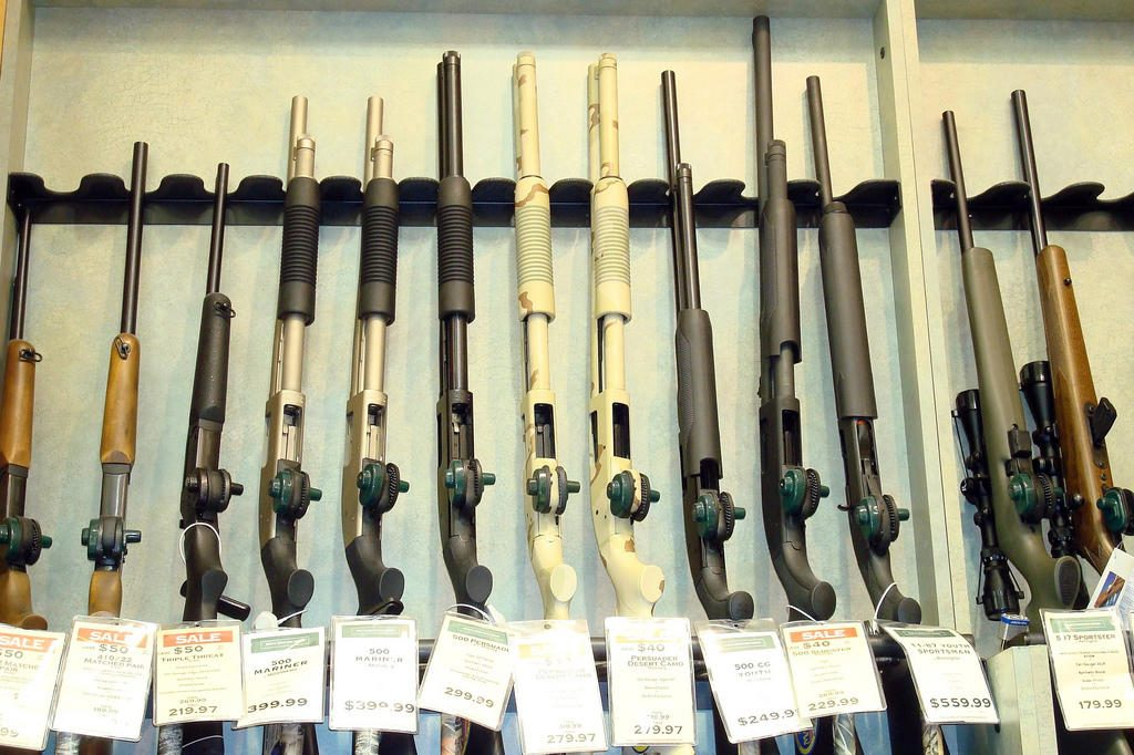 Guns for sale in Millbury, Massachusetts. Sean/CreativeCommons/Flickr