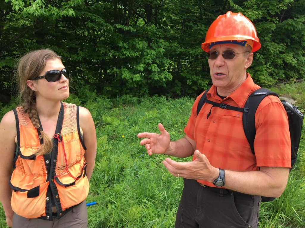 Alexandra Kosiba and Paul Schaberg teamed up to study red spruce recovery. Photo by John Dillon for VPR