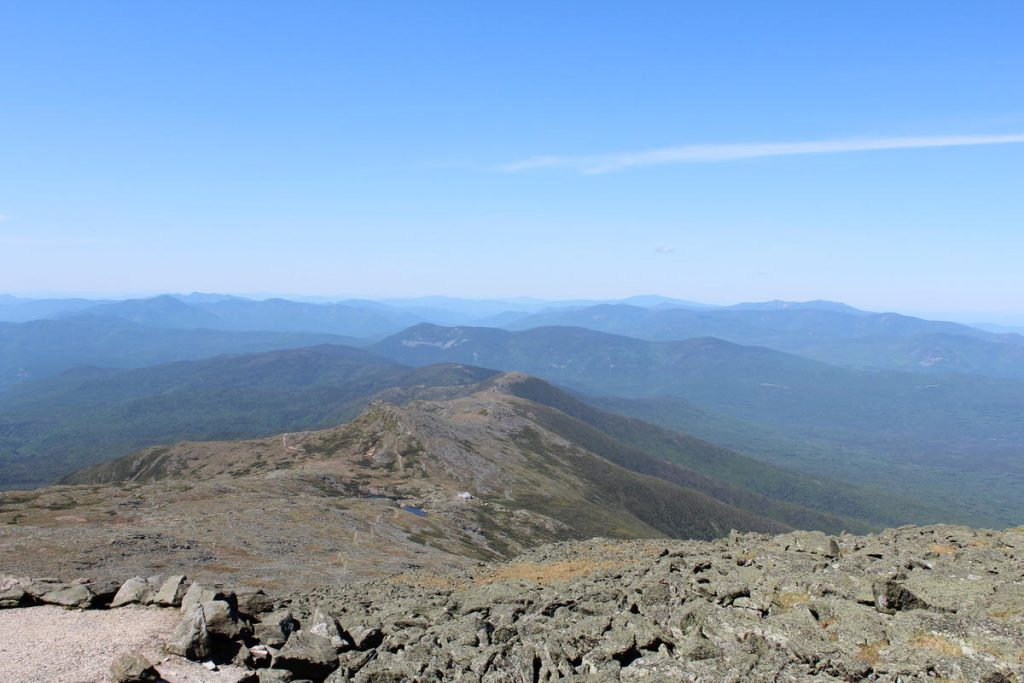 The view from the top of Mt. Washington. Photo by Annie Ropeik for NHPR