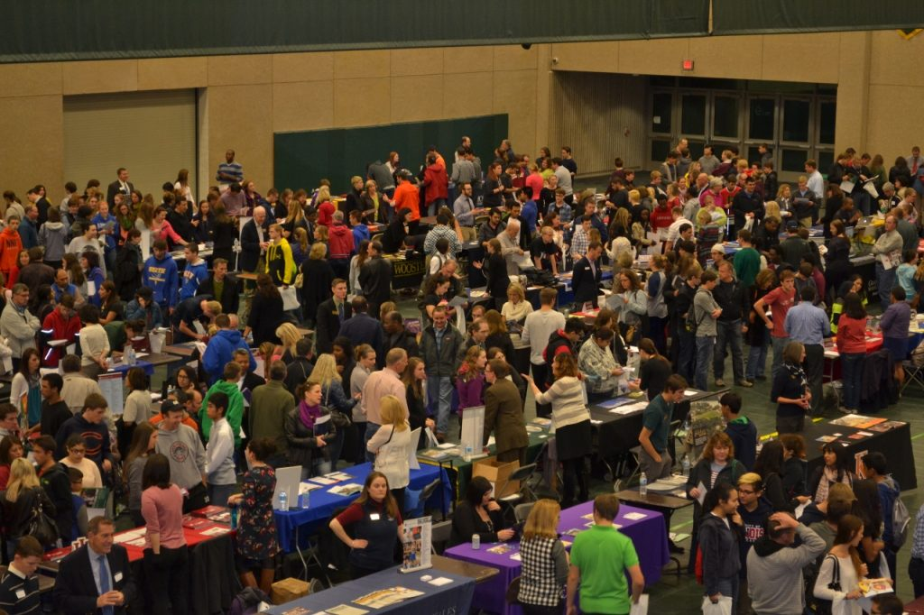 A college fair. Photo by COD Newsroom, Flickr, Creative Commons