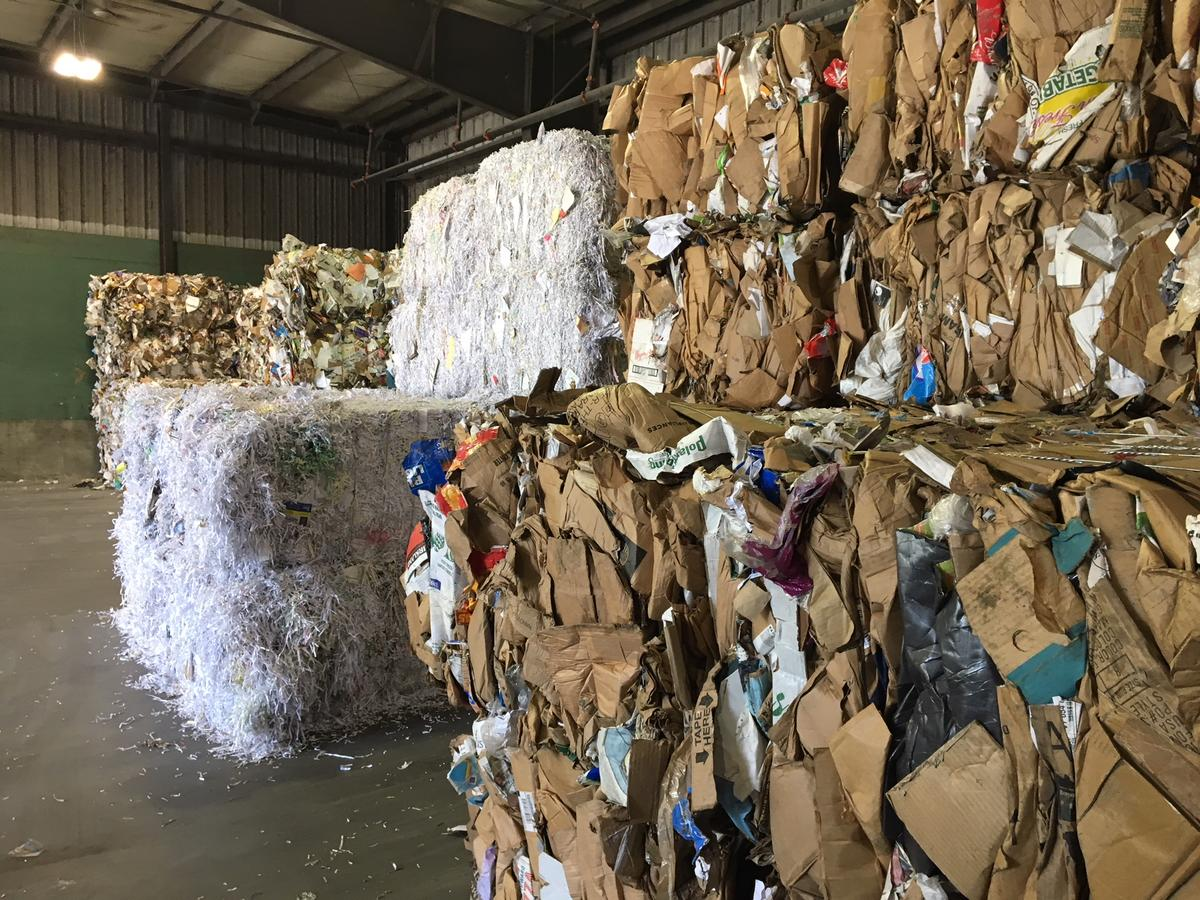 China has tightened standards for mixed paper, seen here, and that has caused the global market to crash, meaning the public will pay more to recycle. Photo by John Dillon for VPR