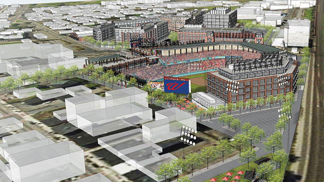 The ballpark rendering above shows an aerial view of Worcester's canal district. The ballpark itself has not been designed yet. Photo courtesy of the PawSox