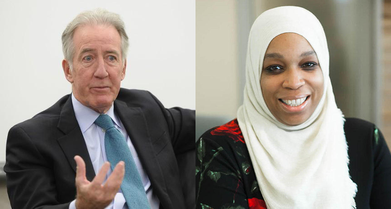 Congressman Richard Neal, at left, and attorney Tahirah Amatul-Wadud. Photos by Dave Roback and Joyce Skowyra for The Republican, Masslive.com, Courtesy of NEPR