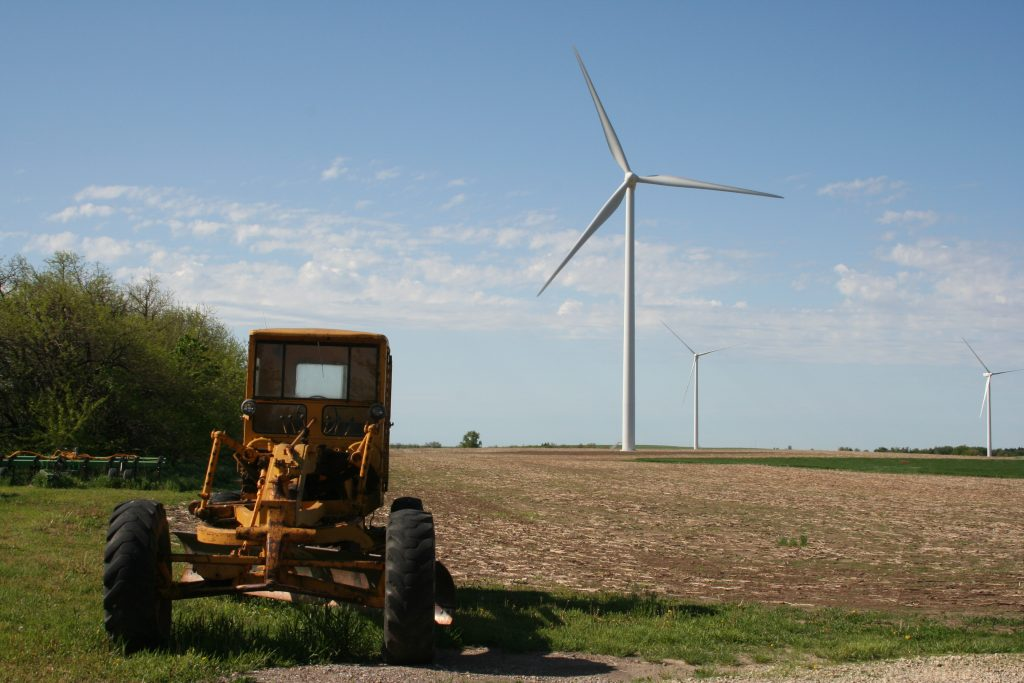 The Kocher Family Ranch on the Meridian Way Wind Farm in Cloud County, Kansas. Photo by Phil Warburg