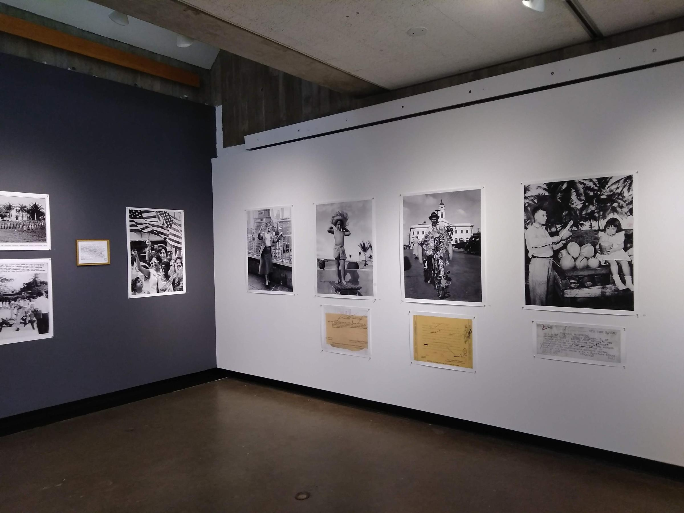 "Pablo Delano's ""The Museum of the Old Colony"" is a sort of mock museum, made up of 20th-century photos and captions from Puerto Rico. Photo by Jill Kaufman for NEPR"