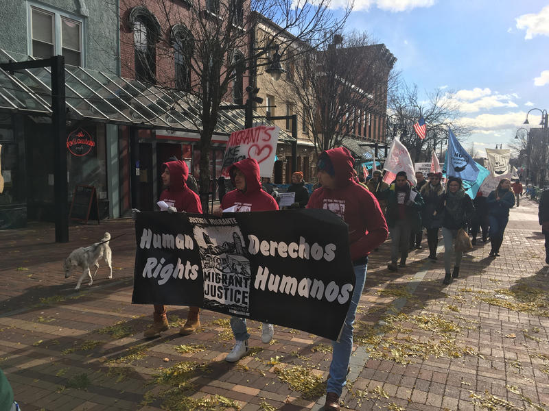 A lawsuit filed in U.S. District Court in Burlington charges that the Vermont Department of Motor Vehicles participated in a campaign to target activists for arrest and deportation. Photo by Liam Elder-Connors for VPR