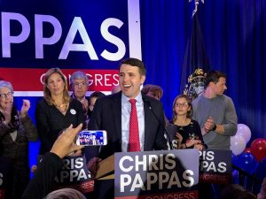 Democrat Chris Pappas won the race for New Hampshire's 1st Congressional District. Photo by Allegra Boverman for NHPR