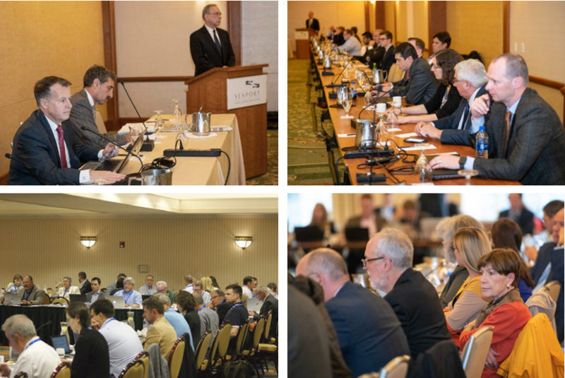 New England Power Pool members meet to debate energy market reforms, in photos from the organization's 2018 annual report. Photo courtesy of NEPOOL