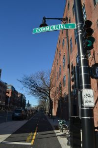 View down Commercial Street. Photo by Julia Press