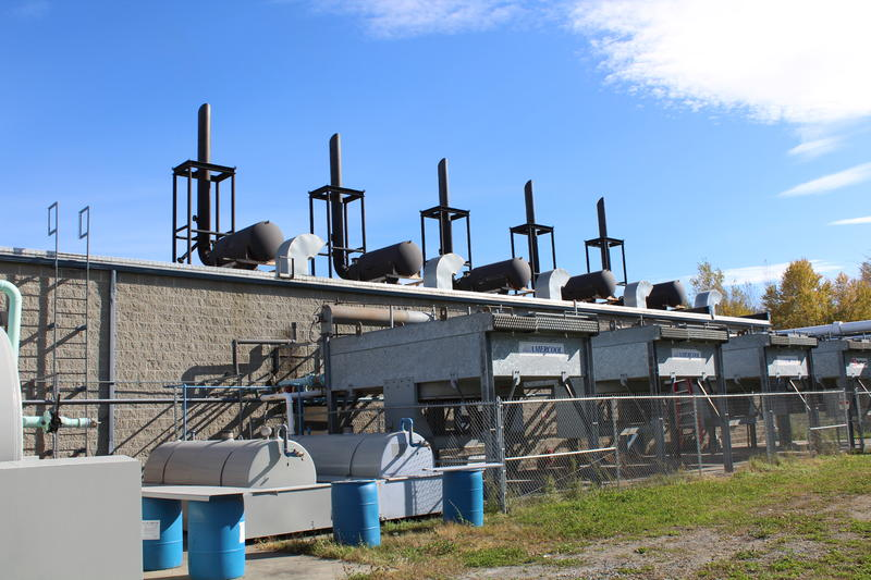 These generators produce electricity by burning landfill gas in Coventry. The Washington Electric Co-op has sold credits for that energy to other utilities, but the price for the credits has dropped sharply. Photo courtesy of Washington Electric Co-op