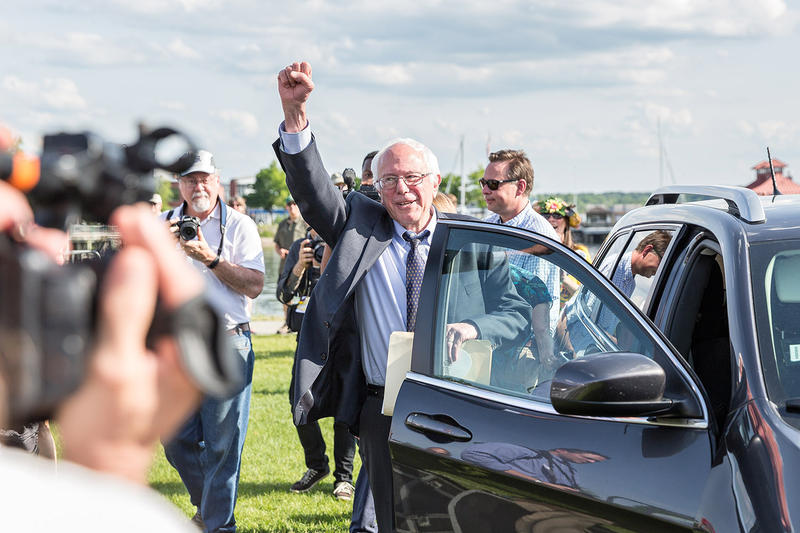 Senator Bernie Sanders' 2016 campaign kickoff event at Waterfront Park in Burlington, Vermont. Photo by Oliver Parini for VPR
