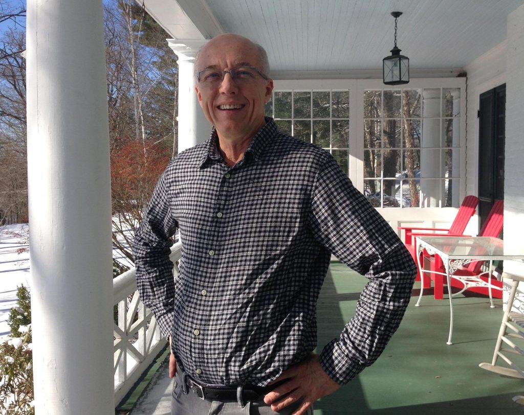 Tom Johnson owns and runs the Birchwood Inn in Lenox, Massachusetts. He says bookings have decreased due to competition from Airbnb rentals. Photo by Nancy Eve Cohen for NEPR