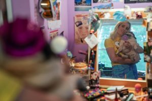 Sir Babygirl in her childhood bedroom. Photo by James Napoli