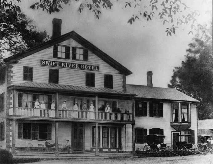 A photograph of the Swift River Hotel in Enfield, Mass., taken before the valley was flooded. Courtesy of Friends of the Quabbin