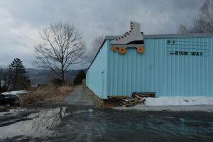 Today, there's often few cars in the parking lot at the rink, now named Great View Roller Skating. The current owners are struggling to keep it open. Photo by Britta Greene for NHPR