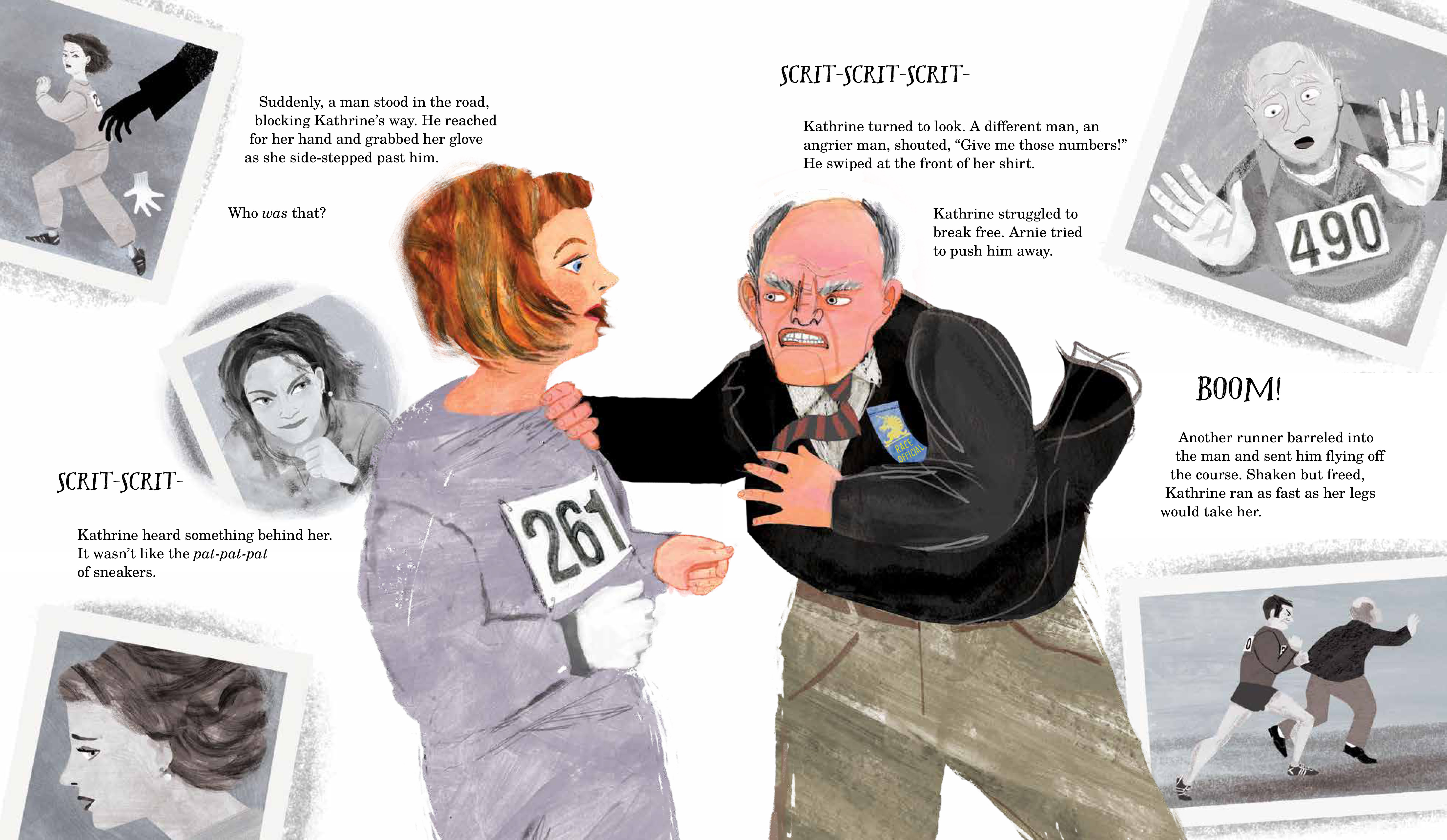 "An excerpt of ""Her Fearless Run: Kathrine Switzer's Historic Boston Marathon"" by Kim Chaffee, Illustrations by Ellen Rooney"