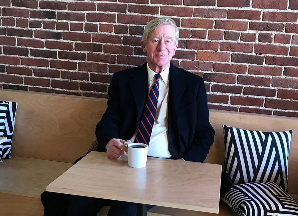 Former Massachusetts Governor William Weld having coffee in New Hampshire. Photo by Anthony Brooks for WBUR
