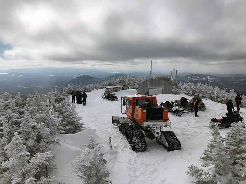 The peak of Coburn Mountain in western Maine overlooks woods through which CMP would construct its transmission line. Photo by Fred Bever for Maine Public