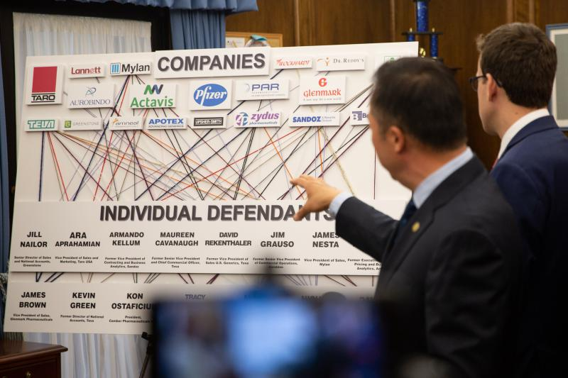 "Connecticut Attorney General William Tong said that the generic drug industry is profiting ""in a highly illegal way"" from Americans and he's at the forefront of a lawsuit that could hold defendants accountable for it. Photo by Frankie Graziano for Connecticut Public Radio"