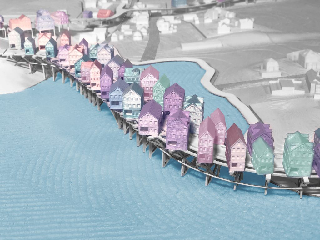 Architecture student Adam Sherman's designs for a future Provincetown, Massachusetts. Courtesy of Adam Sherman
