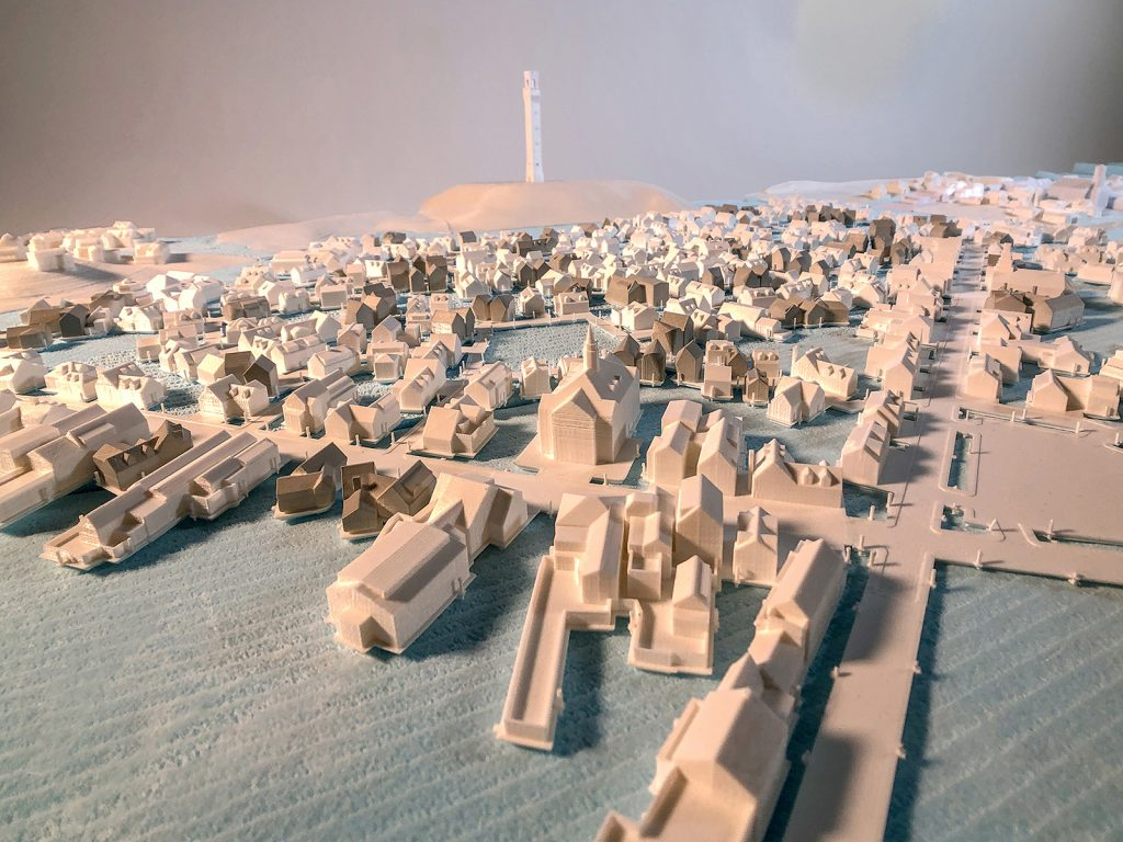 Architecture student Ben Hait's designs for a future Provincetown, Massachusetts. Courtesy of Adam Sherman