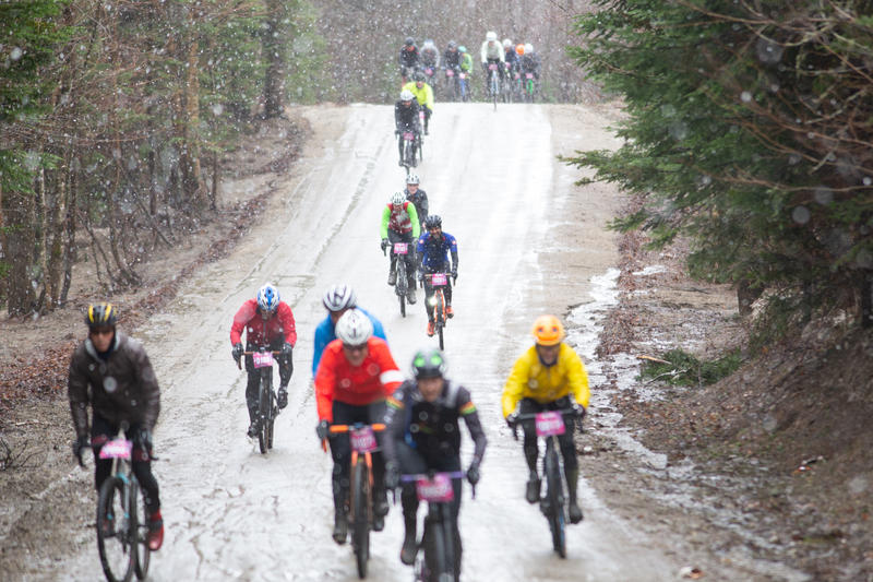 Gravel bicycle races, like the Rasputitsa Gravel Race in Burke, are increasingly drawing people from around the world to ride Vermont's unpaved roads. Photo by Will Freihofer