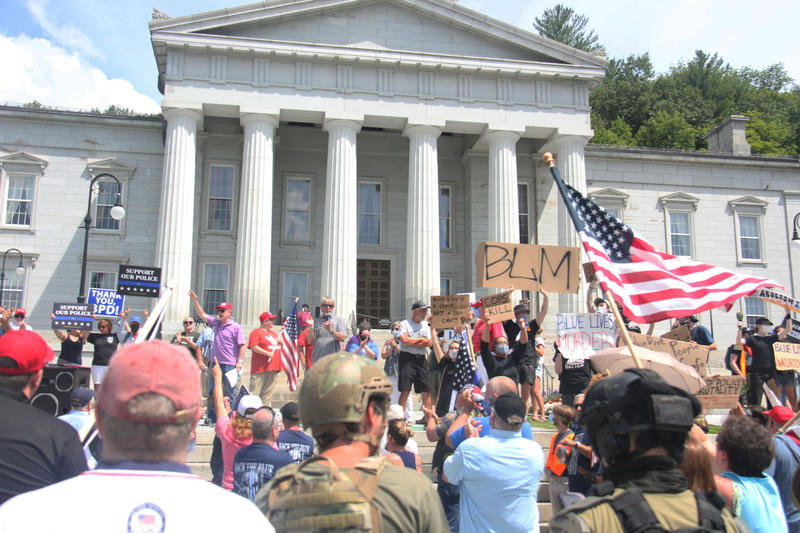 pro-police-rally-blm-montpelier-vpr-elder-connors-20200720
