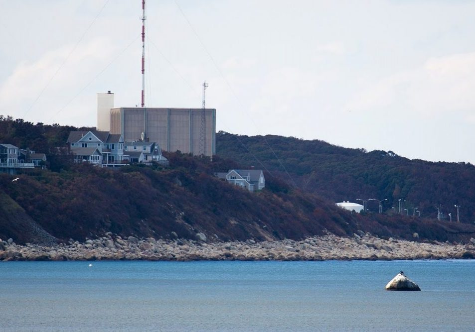 Pilgrim Nuclear Power Station in Plymouth. Photo by Jesse Costa for WBUR