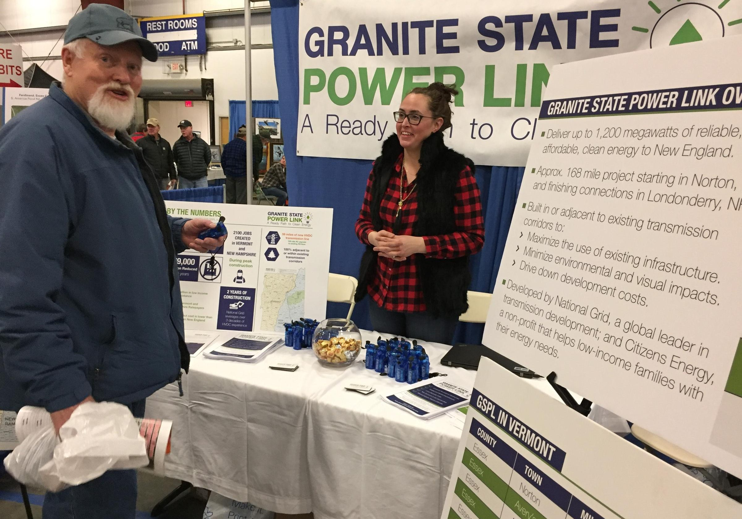 As part of its outreach, National Grid and its Granite State Power Link sponsored the Yankee Sportsman's Classic, an annual show that draws 15,000 for exhibits and workshops on hunting and angling. Photo by John Dillon for VPR