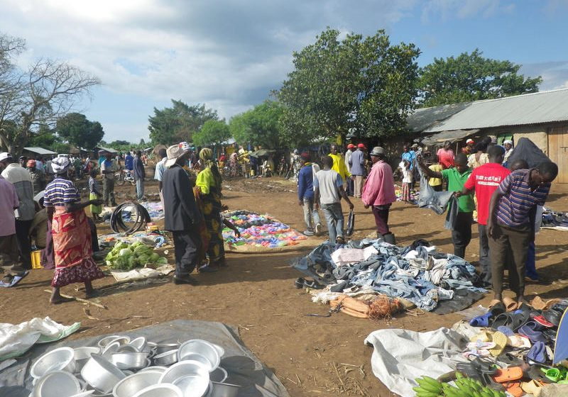 A market at the Kyangwali refugee settlement in Uganda, where Maine resident and Congolese refugee, Charles spent almost half his life. The number of refugees, asylum seekers and other foreign-born people who settled in Maine last year was the largest in recent years. Photo by N. Omata via Flickr/Creative Commons