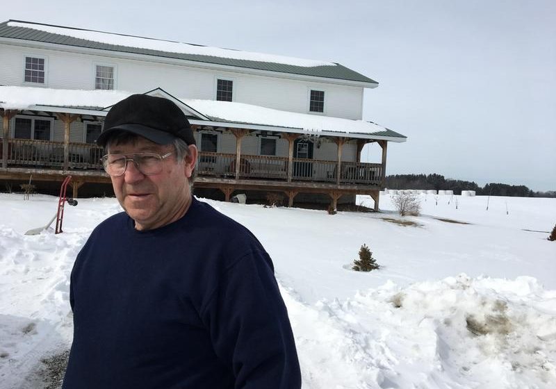 Jacques Rainville farmed in Highgate Center but low milk prices forced him out of business. Photo by John Dillon for VPR