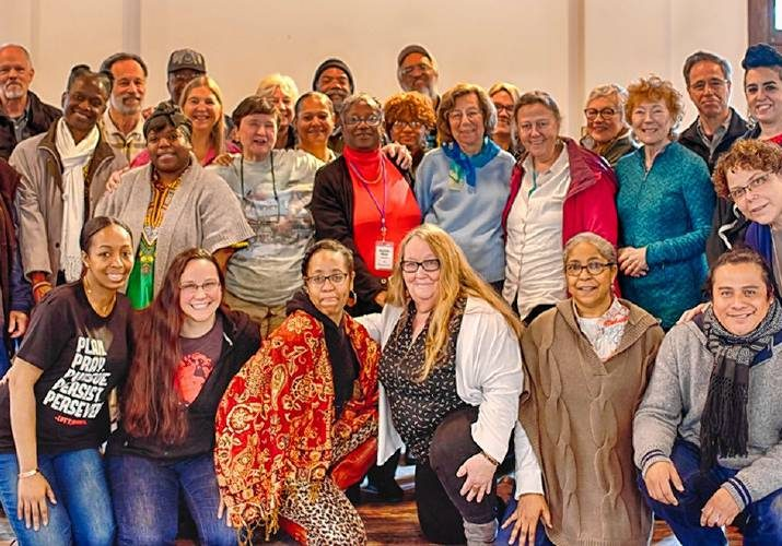 The 'Bridge4Unity' group at the Penn Center in Beaufort, South Carolina in January. Photo by Pat Crutchfield