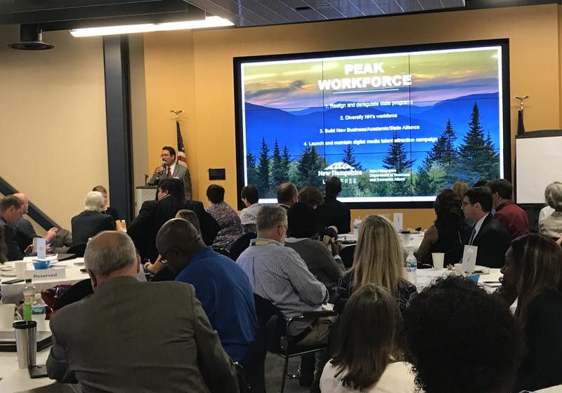 The forum on workplace diversity and economic inclusion, held at Eversource offices in Manchester, took place July 26, 2018. Photo by Robert Garrova
