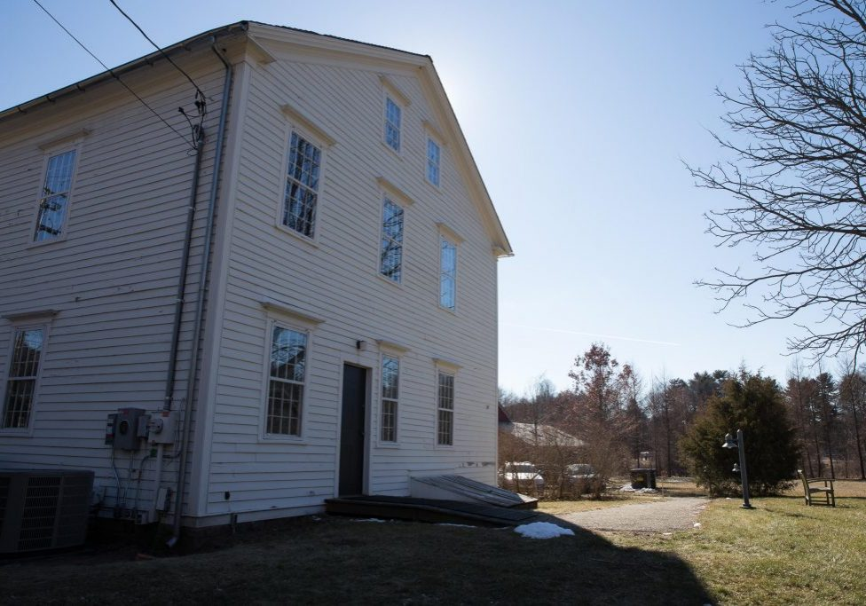 The Eli Whitney Boarding House in Hamden, Connecticut. Solar panels are installed on the south-facing side of the roof. Photo by Ryan Caron King for WNPR