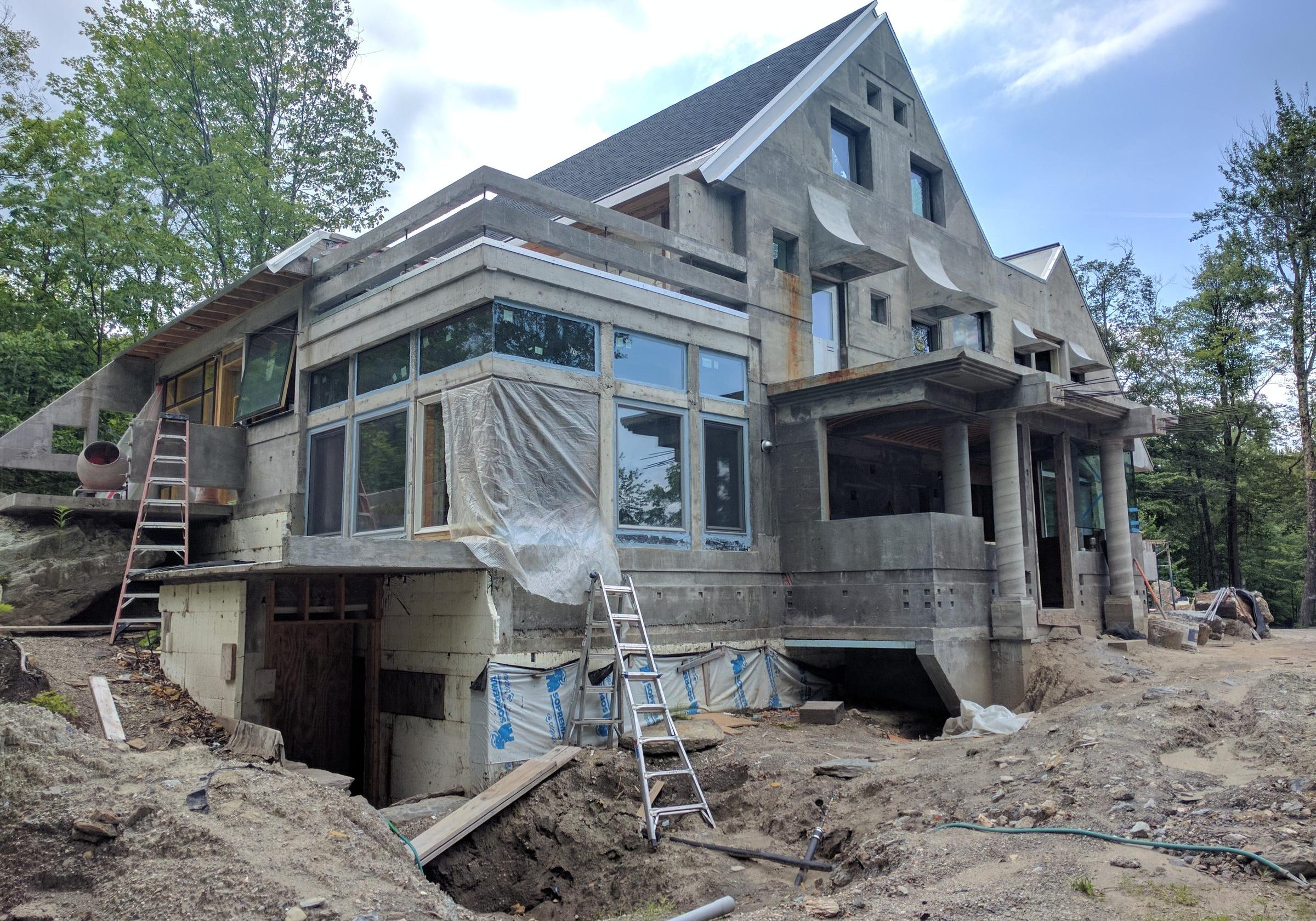 "The all-concrete ""Home Run House"" in Warren, VT. Photo by Jon Kalish for NENC"