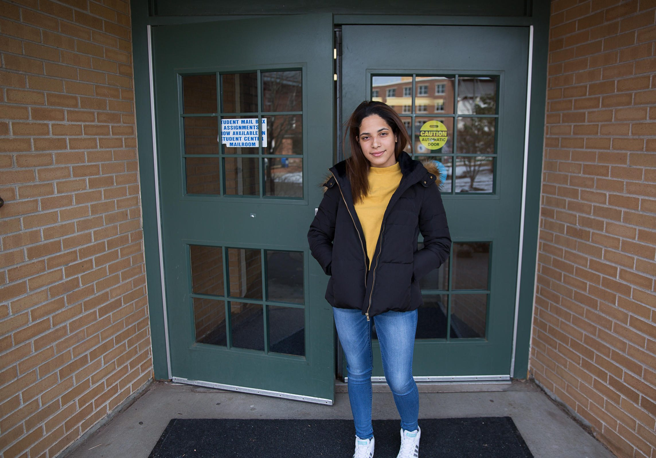 Marivelisse Acosta is from San Juan, Puerto Rico. She's now studying communications at CCSU in New Britain, Connecticut. Photo by Ryan Caron King for Connecticut Public Radio