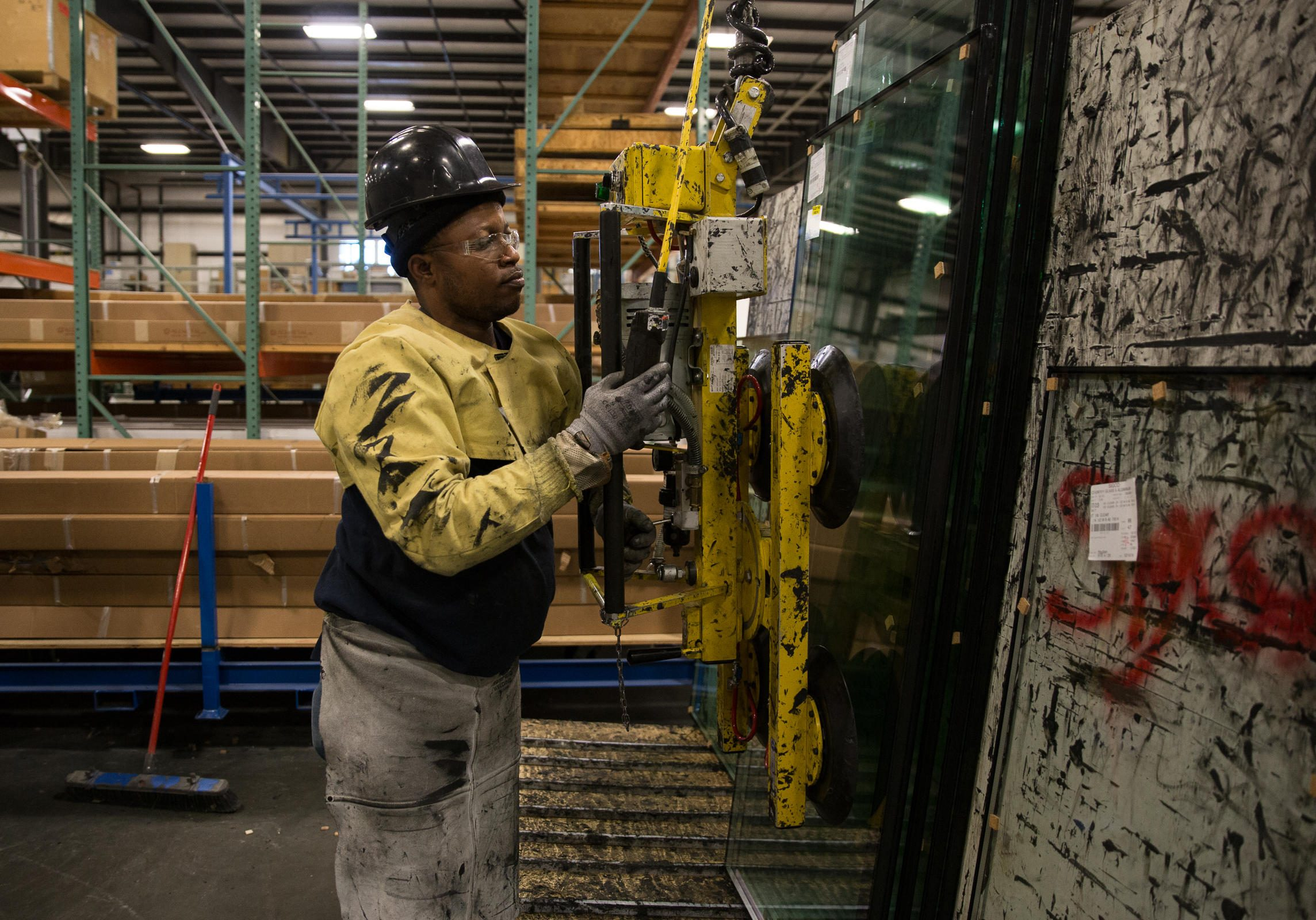 SIGCO worker Antonio Pedro came to the United States from Angola three years ago. The company says immigrant employees reduce Maine's workforce shortage. Photo credit: Ryan Caron King / NENC
